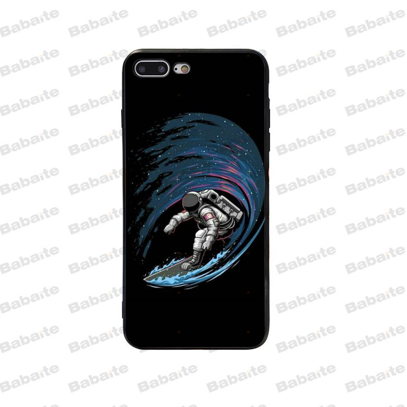 Babaite Space Love Moon Astronaut DIY Protector Phone Case for Apple iPhone 11 pro max 5 5S SE 6 6S 7 8 Plus X XS MAX XR case in Half wrapped Cases from Cellphones Telecommunications