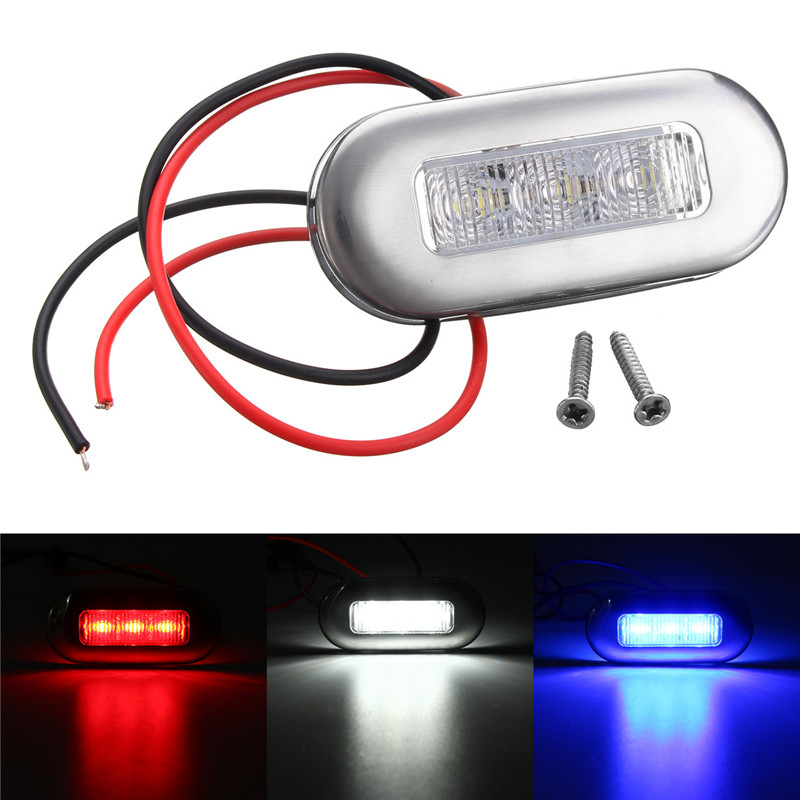 10pcs 3 LED Side Marker Indicators Light Clearance Light Lamp Red White Blue For Car Truck Van Trailer Waterproof IP65 DC12V 2pcs car waterproof side marker light truck clearance lights trailer 3 led warning lamp bulb 12v