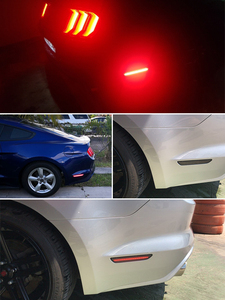 Image 5 - IJDM מעושן עדשה אדום LED אחורי צד סמן אורות עבור 2010 2017 פורד מוסטנג, מעושן Sidemarkers מופעל על ידי 45 SMD LED אורות 12V