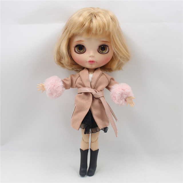 Neo Blythe Doll Clothes Coat Jacky With Belt
