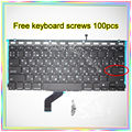 """Nova marca Para MacBook Pro Retina 13.3 """"A1425 Pequeno Digite RS teclado Russo + Backlight + 100 pcs parafusos do teclado 2012 Ano"""