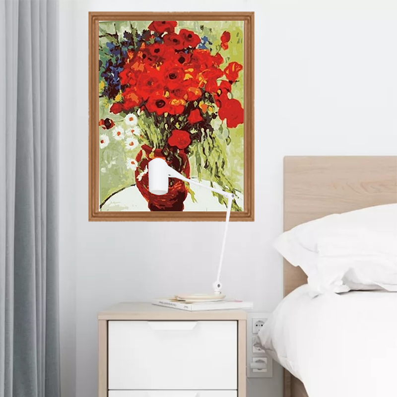 Us 8 1 19 Off Bunga Minyak Lukisan Dengan Angka Diy Modern Hiasan Dinding Gambar Dibingkai Kanvas Akrilik Diy Lukisan Kaligrafi P 0610 In Painting