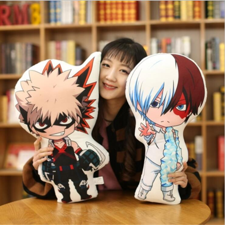 Japanese Anime Cushion bolster Cute Cosplay Plush Doll Sofa Stuffed Cushion Pillow Toy Christmas My Hero Academia Todoroki Shoto