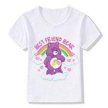 98c93ea5cab0b Meilleur Ami Ours Impression T shirt Pour Enfants Mignon Soins Ours  Conception T-shirt Enfants Manches Courtes D été Tops Garçon.