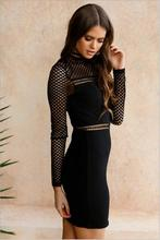 lace long sleeve Hollow Out Bandage dress