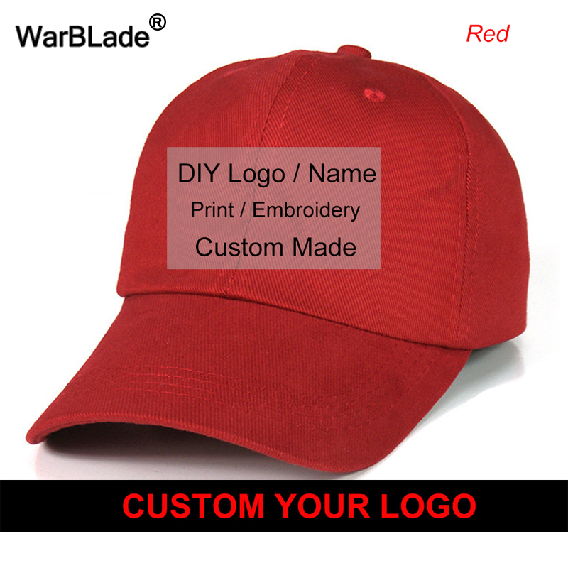 848aa550f49e3 Wholesale Free Custom Baseball Cap Print Logo Design Embroidery Casual  Solid Hats Black Cap Snapback Caps