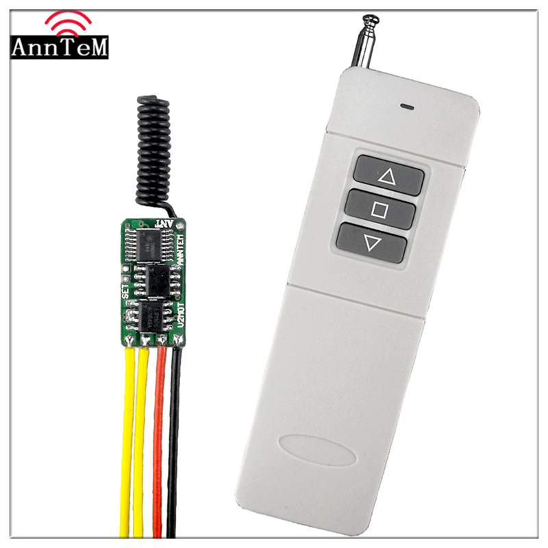 US $4 04 19% OFF|Anntem brand RF Long Range Remote Control Switch Motor 12v  Coil electromagnet Forward and Reverse 433mhz Transmitter +Receiver-in