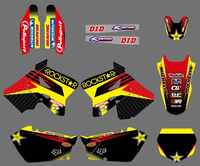 DECALS STICKERS Graphics & Backgrounds Kits for Suzuki RM125 RM250 2001 02 03 04 05 06 07 08 09 10 2011 2012 RM 125 250