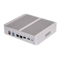 Fanless Mini PC Intel Dual Core i5 7200U 7260U support M.2 Msata 2*LAN SD DP HDMI Mini Computer Windows 10 7th Gen CPU HTPC
