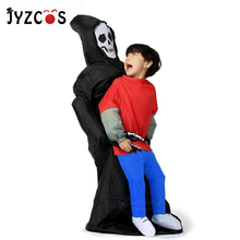 JYZCOS Inflatable Grim Reaper Costume Halloween Costumes for Women Man Kids Party Cosplay