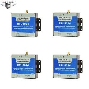 GSM 3G 4G Portão Abridor De Controle Remoto interruptor do Relé de Controle de Acesso por Telefone Sem Fio Da Porta Automática Abridor RTU 5024 100 pçs/lote