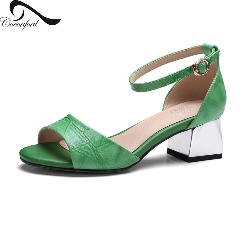 ФОТО 2017 New style Size Leather Sandals Spring summer Euramerican style Adhesive shoes Party Casual Platform logo female sandals