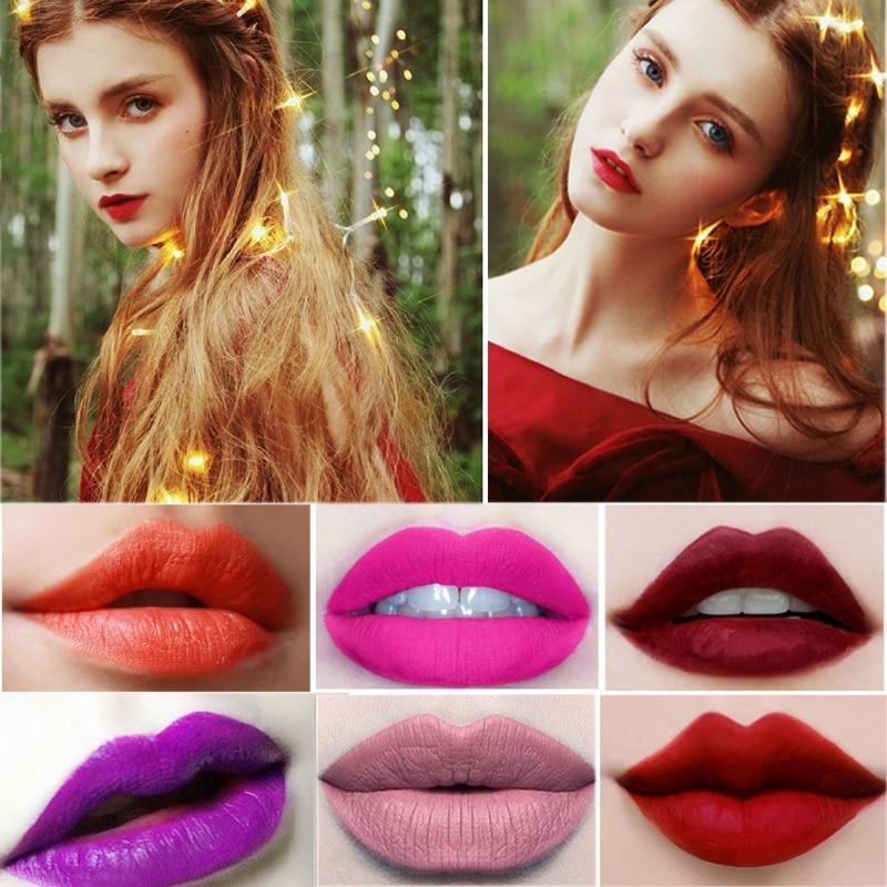 Beleza Labiales Companheiro Sexy Lip Gloss Maquiagem Batom de Longa Duração Batom Matte Maquiagem Cosméticos Lábio À Prova D' Água