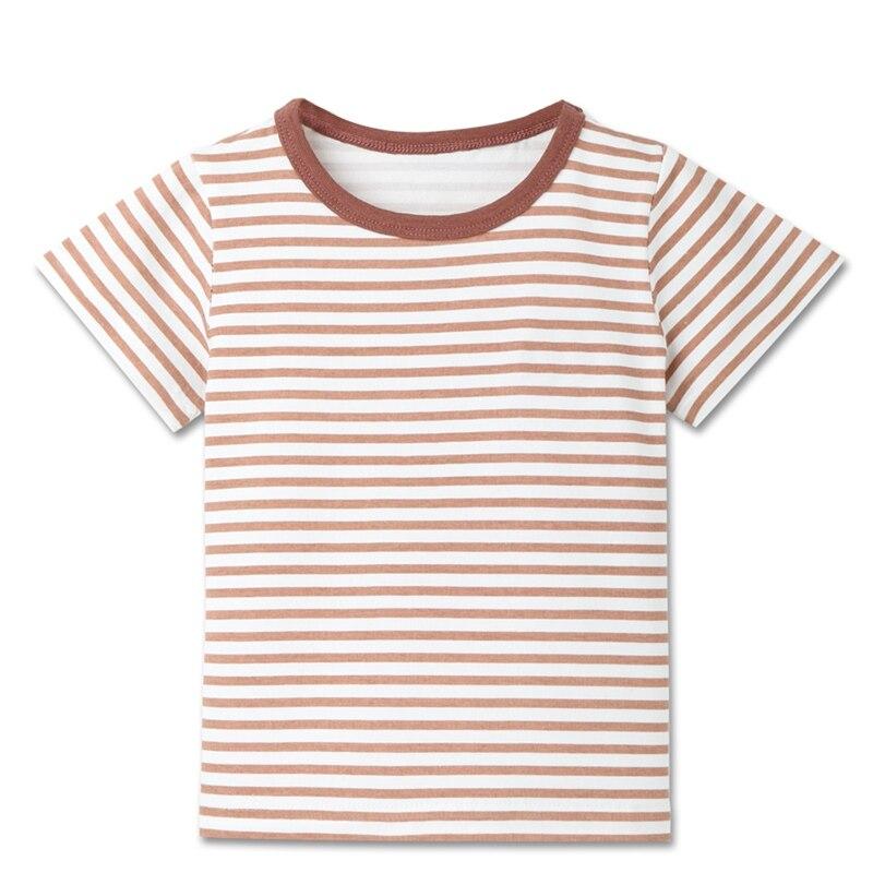 Детские летние футболки в полоску для мальчиков спортивные топы с короткими рукавами для маленьких мальчиков, футболки детская одежда для детей от 2 до 8 лет, новинка - Цвет: C