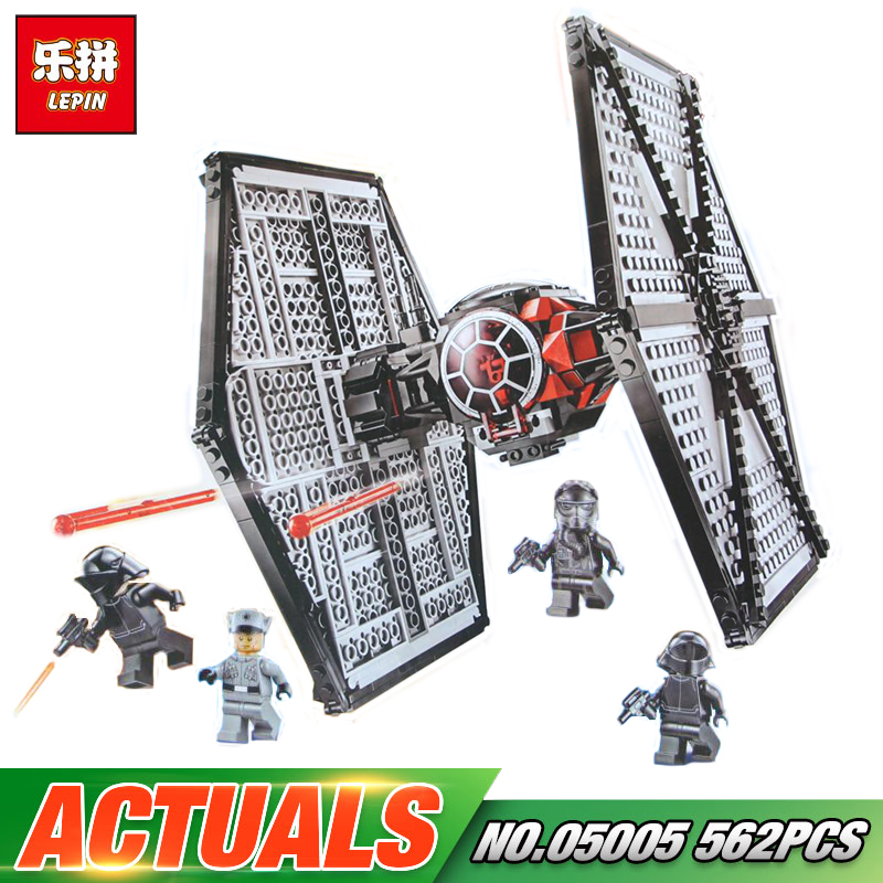 Lepin 05005 Star Wars Toys First Order Tie TIE Fighter Model Compatible legoing 75101 Building Block Funny Bricks For Kid Gift игровой набор mattel star wars tie fighter vs millennium falcon 2 предмета cgw90