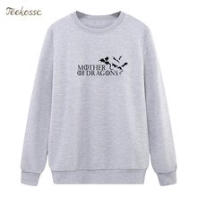 Game of Thrones Sweatshirt Mutter der Drachen Hoodie 2019 Frühling Herbst Frauen Damen Pullover Fleece Lose Hip Hop Streetwear(China)