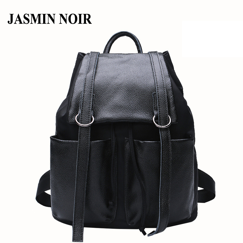 New Women Genuine Real Cow Leather Daypack Travel Bag Designer School Bag for Teenagers High Quality Female Fashion Backpack haoqima famous brand women genuine cow leather girls backpack designer shoulder girl school bag for teenagers travel backpacks