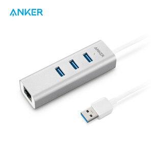 Anker Unibody 3 порта USB 3,0 и гигабитный Ethernet хаб и 1.3ft USB 3,0 кабель [Ethernet порт RTL8153 чипсет + USB порт VL812 чипсет]