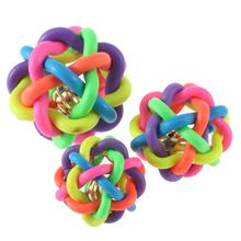 1pcs Hot colorful ball cat toy with bell for small medium large dog pet product Chihuahua Yorkshire Poodle pet toy dog toy