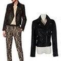 Brand Fashion Women's Slim Motorcycle Leather Jacket Autumn Women PU Leather Short Coat