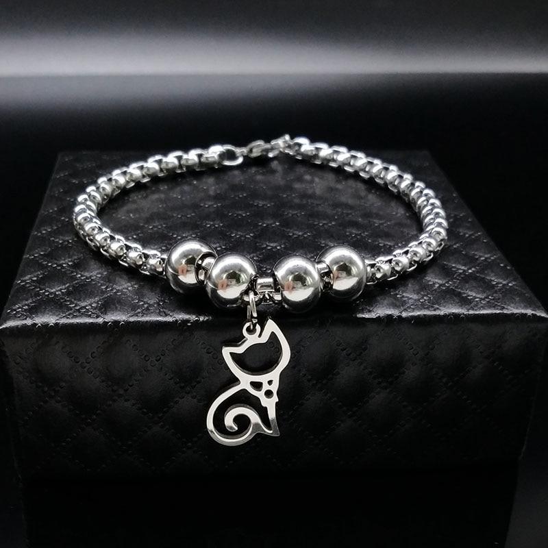 Silver Color Cat Necklace