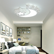 купить Modern LED Ceiling Lights Iron Acrylic White Moon And Star LED Lamp.LED Light..LED Ceiling Light.Ceiling Lamp For Foyer Bedroom по цене 6565.22 рублей