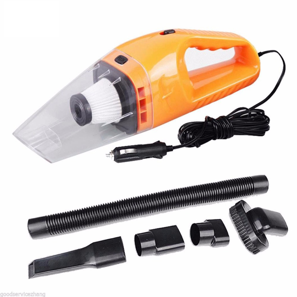 Car Vacuum Cleaner Wet&Dry Portable Super Auto Dust Hand Vac Pet Hair Crumbs Cleaner Cyclone 120W 4000PA with 5 Meter Cable 12v dbl 370 wet dry car dust vacuum cleaner black white dc 12v