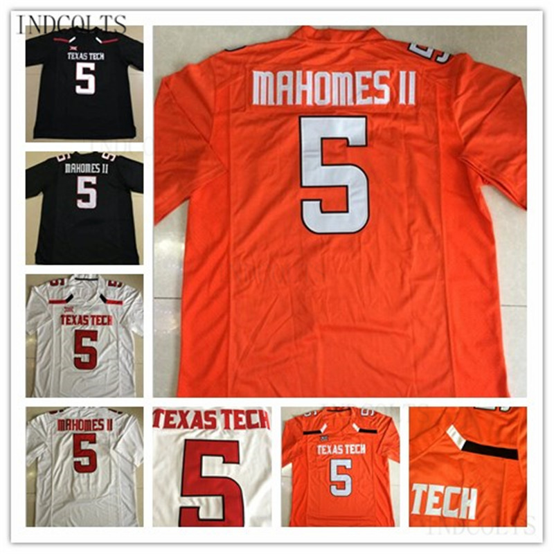Mens Texas Tech 5 PATRICK MAHOMES II stitched college Football Jersey free shipping INDCOLTS texas cap roig page 5