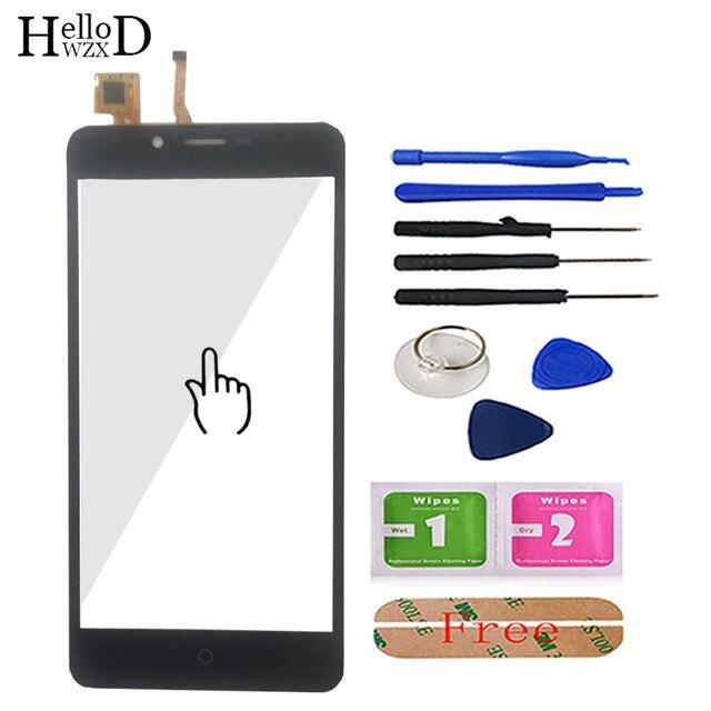 5.0 Cellulare Touchscreen Frontale Per Leagoo Kiicaa di Alimentazione Dello Schermo di Tocco di Vetro del Pannello Digitizer Cavo Della Flessione del Sensore Strumenti Adesivo