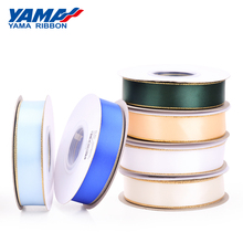 YAMA Gold Edge Satin Ribbon 1.5 inch 38mm 100yards/lot for Diy Dress Accessory Wedding Decoration Gifts