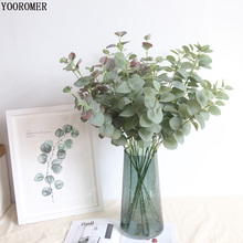 YOOROMER Artificial Eucalyptus Leaf Green Leaves branches Plants for Home Wedding Party Decorations Money Plant Tree