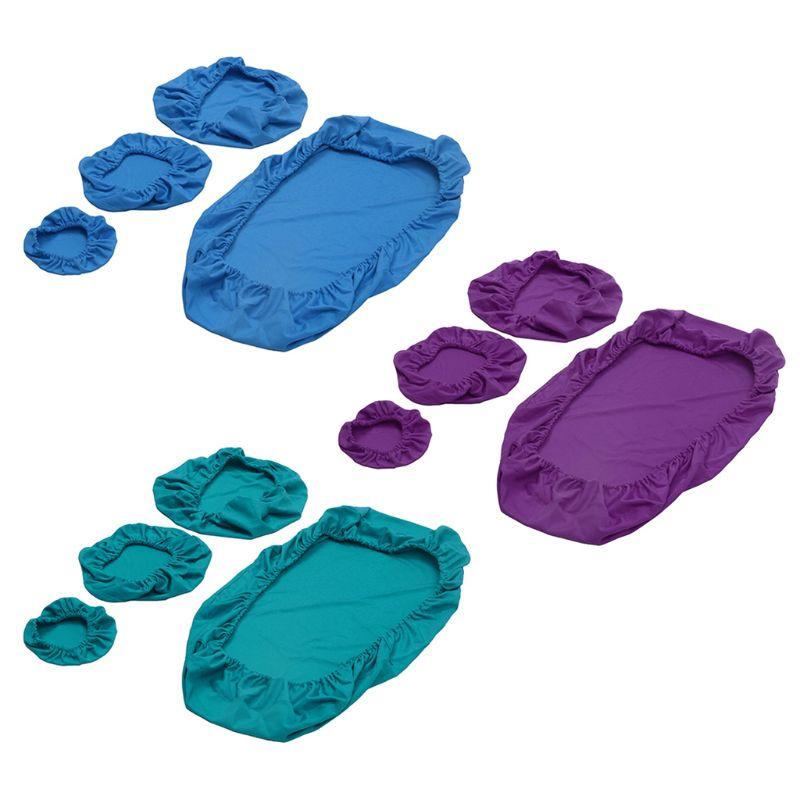 4pcs/set Dental Chair Cover Unit Washable Dustproof Dentist Stool Seat Backrest Pillow Cover Protector