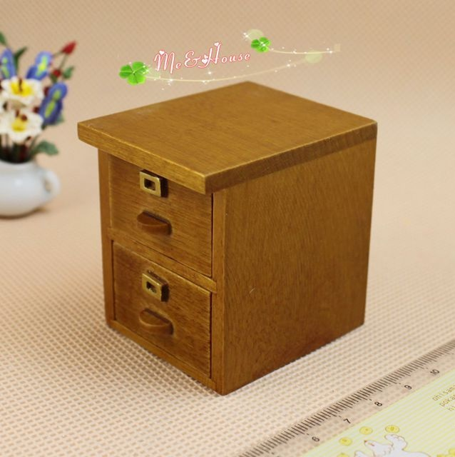 Mini Dollhouse Furniture Accessories Features File Cabinet Bedside Universal In Toys From Hobbies On Aliexpress