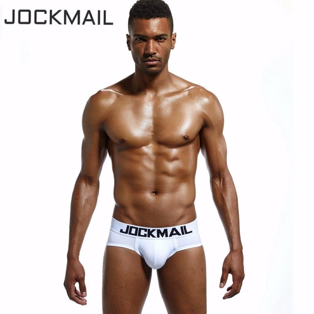 JOCKMAIL Brand Classic basics Cotton Men Underwear Briefs Gay Underwear Penis Pouch Low Waist slip homme