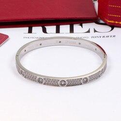 New Brand stainless steel love bracelet exquisite carter love bracelet making silver rose couple cuff no screwdriver Bracelet