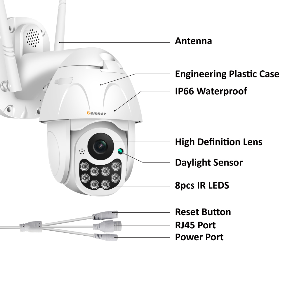 HTB1M3WOa8Kw3KVjSZTEq6AuRpXaW Einnov Wifi IP Camera Wireless Security Camera Outdoor 1080P HD Surveillance Camara Audio Onvif 2MP IR Night Vision P2P Yoosee