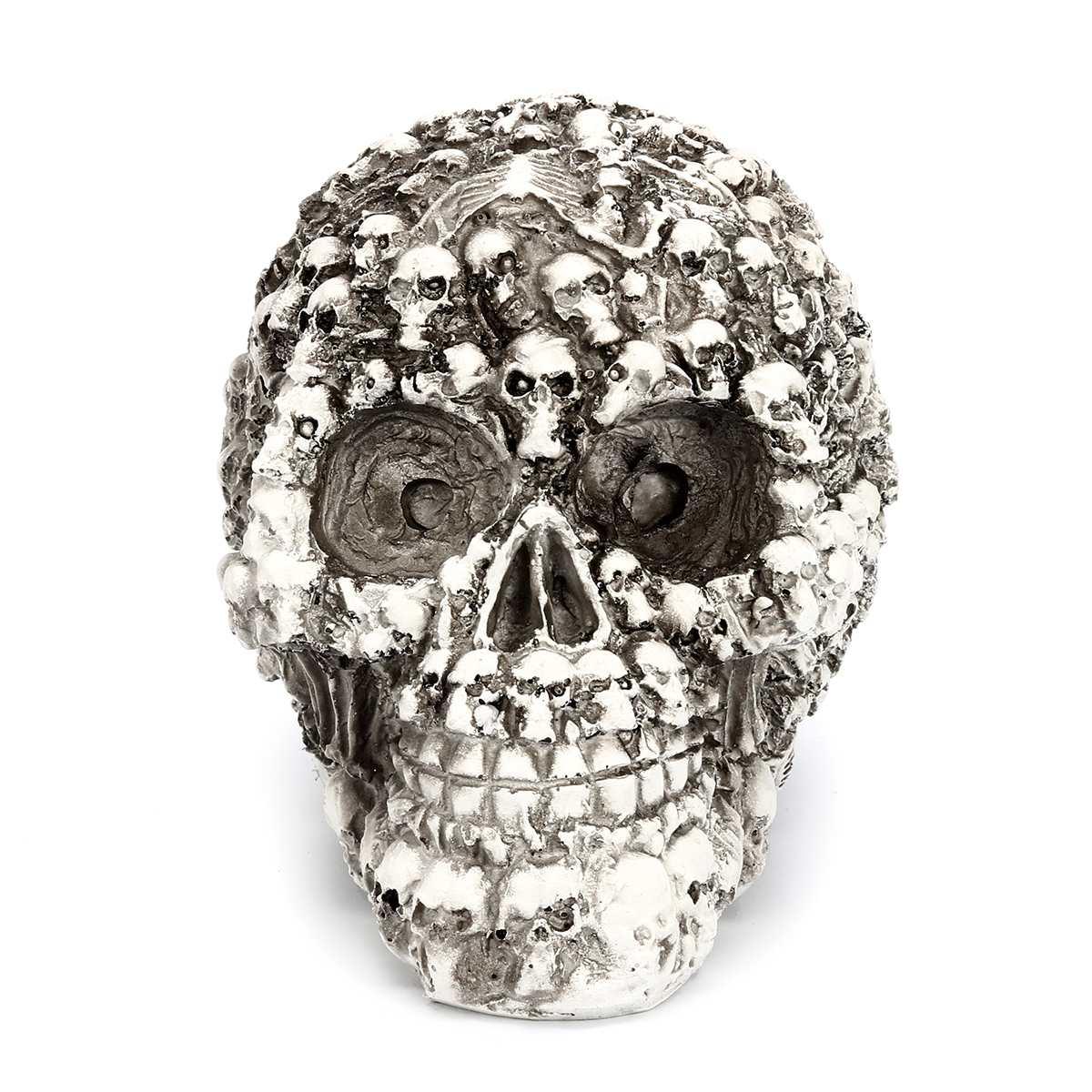Resin Craft Skull Statues & Sculptures Garden Statues Sculptures Skull Ornaments Art Carving Statue