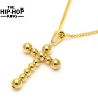 60 cm Oro Croce Pendenti Della Collana Del Rosario Per Gli Uomini E Le Donne Hip Hop Punk Rock Style Collane Christian gioielli