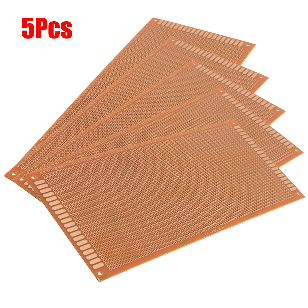 New Electric Unit 5pcs 10cm X 22cm Single Side Copper Prototyping Paper PCB Printed Circuit Board Prototype Breadboard #MK-6