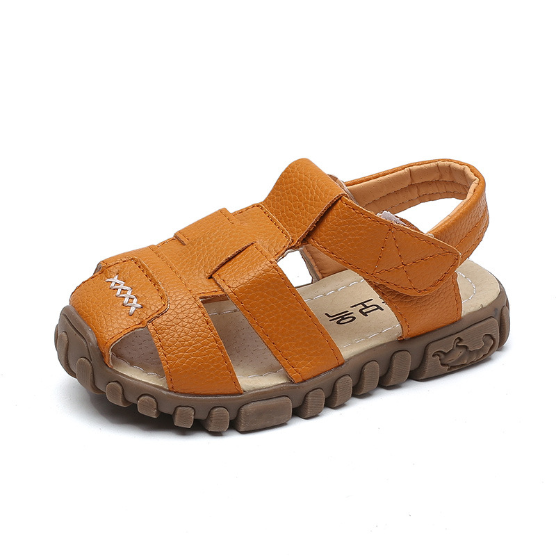 Leather Boys Sandals 2019 100% Soft Leather In Summer The New Boys And Girls Children Beach Shoes Kids Sport Sandals Princess