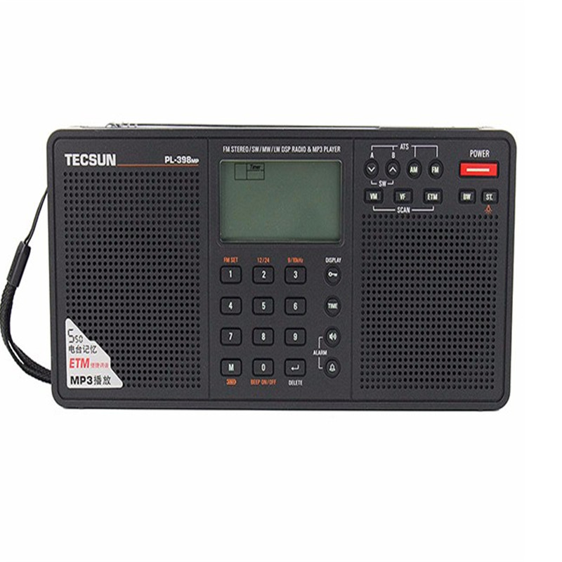 Tecsun PL 398MP MP3 Radio Full Brand Digital Tuning Stereo Receiver with MP3 Function and Clock