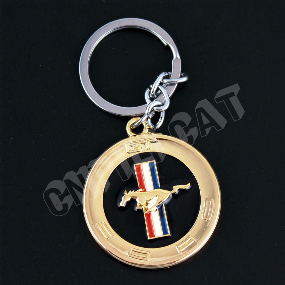 D Gold Horse Logo Car Key Ring Chain Keychains Gift For Ford Mustang Shelby Gt In Key Rings From Automobiles Motorcycles On Aliexpress Com Alibaba