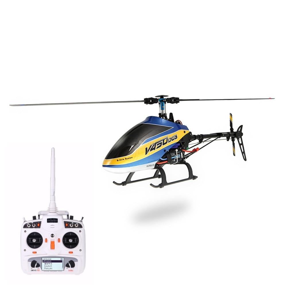 Walkera V450D03 6CH 450 RC FBL RTF Helicopter w/ White DEVO 10 Transmitter