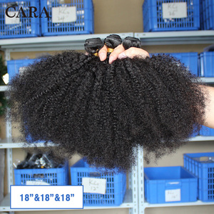 Image 3 - Mongolian Afro Kinky Curly Hair Human Hair Bundles 4B 4C Hair Weave Remy Natural Human Hair Extension CARA Products 1&3 Bundles