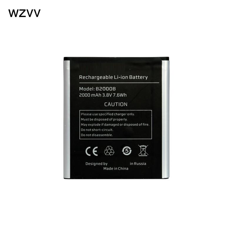 wzvv Original Rechargeable battery 2000mAh battery B2000B for highscreen WinWin mobile phone + Tracking Code