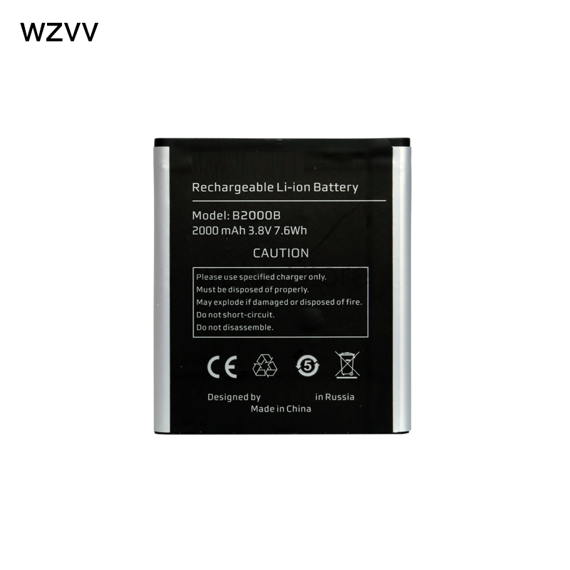 wzvv Original Rechargeable battery 2000mAh battery B2000B for highscreen WinWin mobile phone + Tracking Code