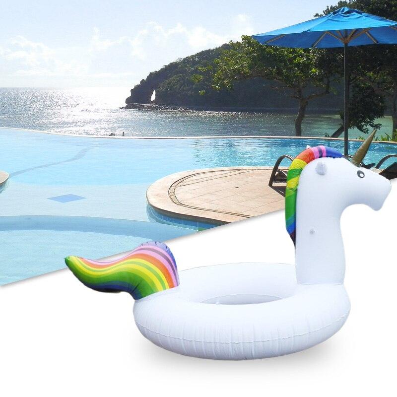 Inflatable Pool Float Boia Piscina Swimming Ring Swim Party Unicorn Flotador Unicornio Boias Baby