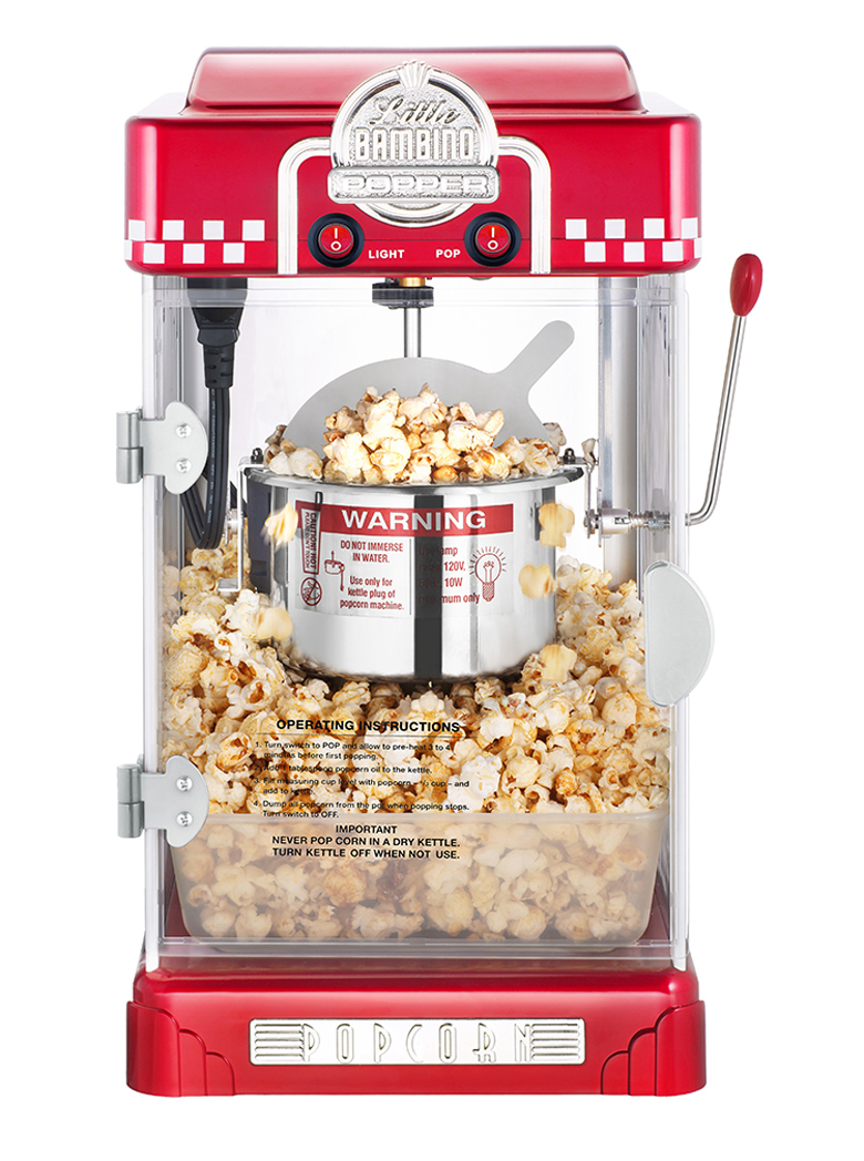 Commercial/Household stainless steel Popcorn machine 80g 300W 220V american style popcorn machine commercial popcorn machine household appliances automatic stainless steel 310w