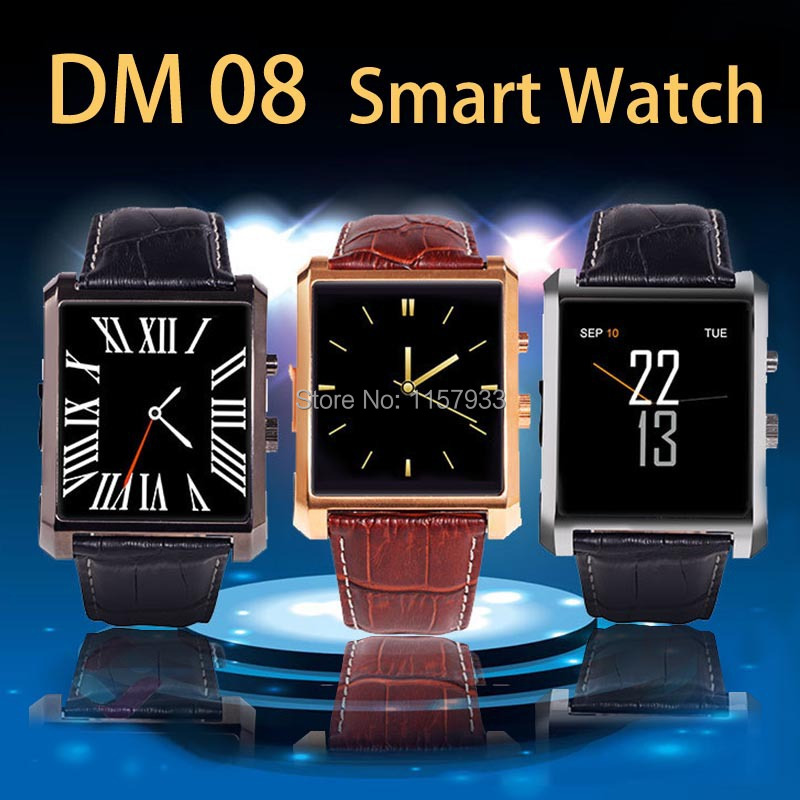 Hot sale Bluetooth digital Smart Watch dm08 waterproof dial wristwatch Sync whatsapp Call Pedometer camera play for Android IOS