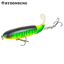 BYDONSUNG Whopper Popper 10cm 13.2g Topwater Fishing Lure Synthetic Bait Onerous Plopper Comfortable Rotating Tail Fishing Deal with Hooks